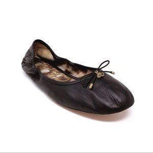 Sam Edelman Woman's 9 M Black Leather Ballet Flats
